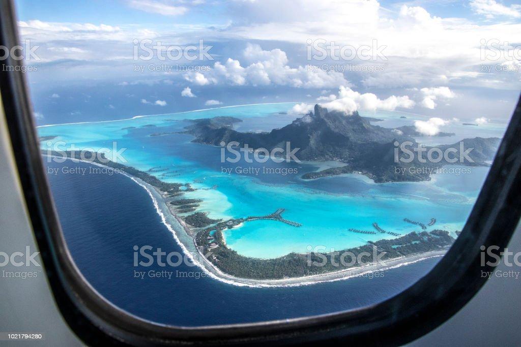 Bora Bora Island View Before Landing Stock Photo Download