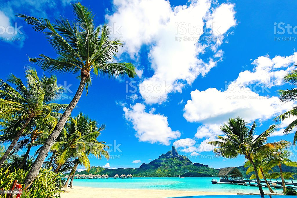 Bora Bora Paradise stock photo