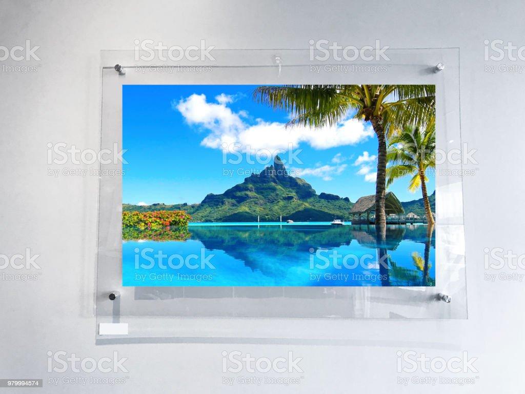 Bora Bora Photograph in Modern Frame stock photo