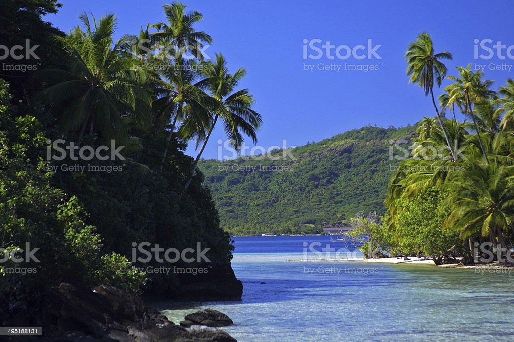 Bora Bora Polynesian Island View Stock Photo Download