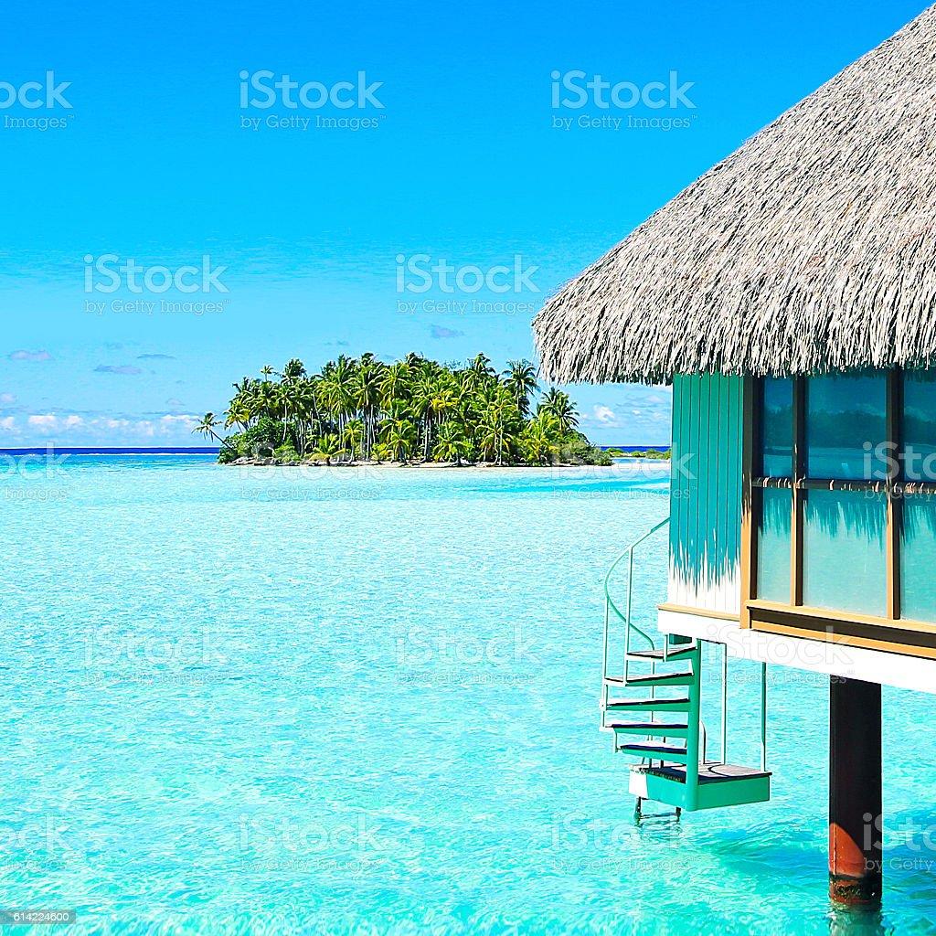 Bora Bora Tahiti Island Life stock photo