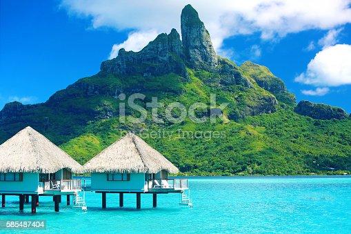istock Bora Bora Tahiti Mt Otemanu 585487404