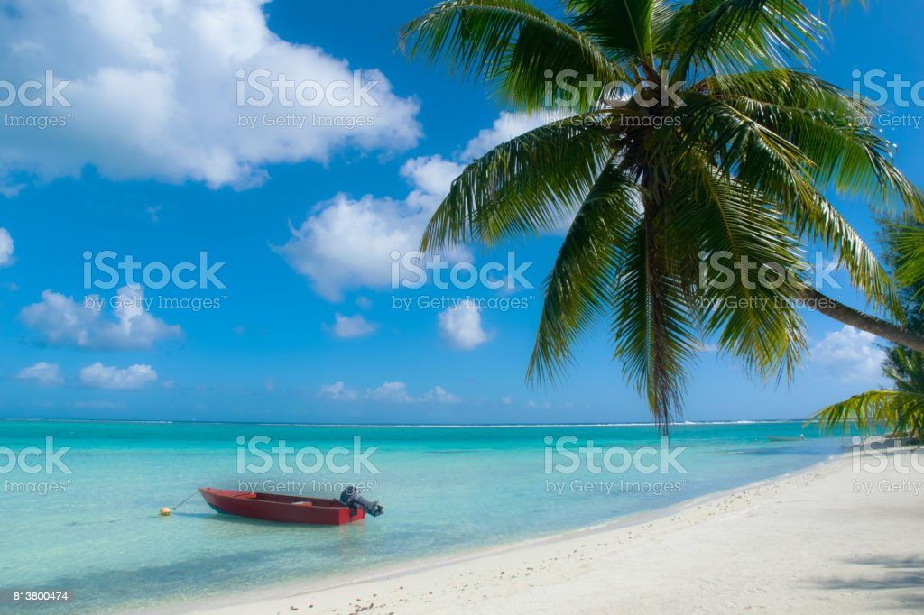 bora bora tropical beach stock photo