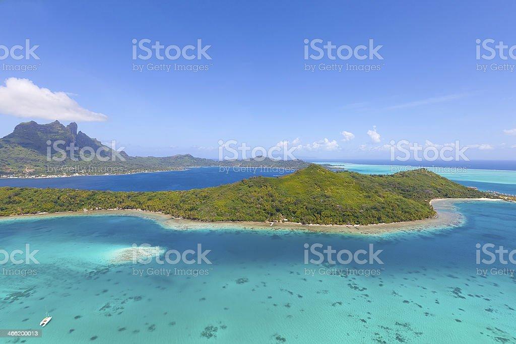bora island from air stock photo
