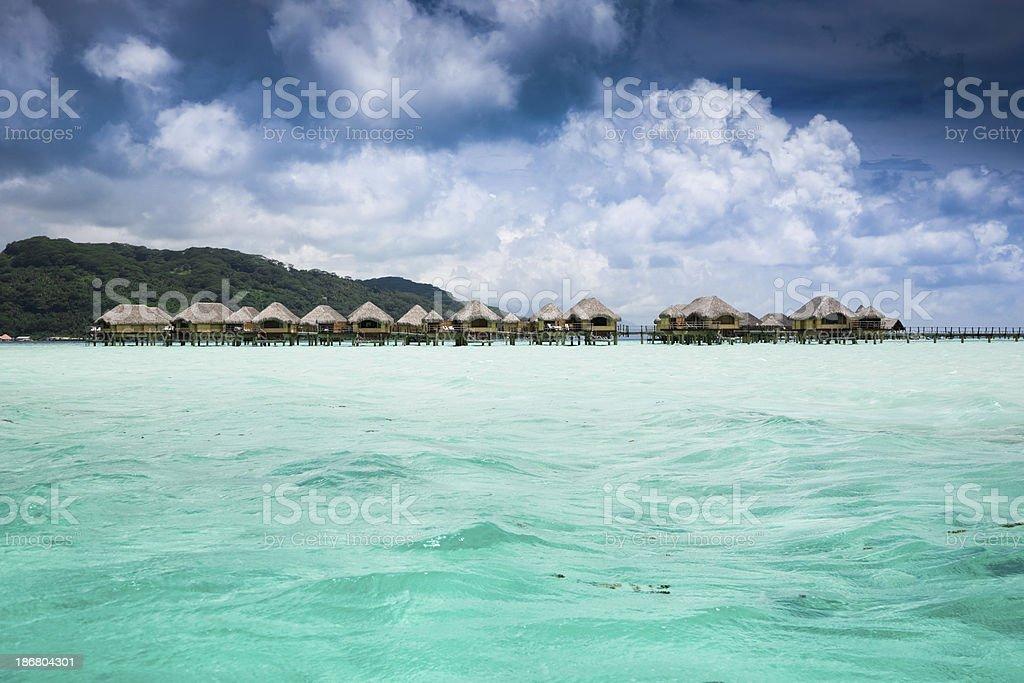 Bora-Bora Dream Holiday Resort royalty-free stock photo