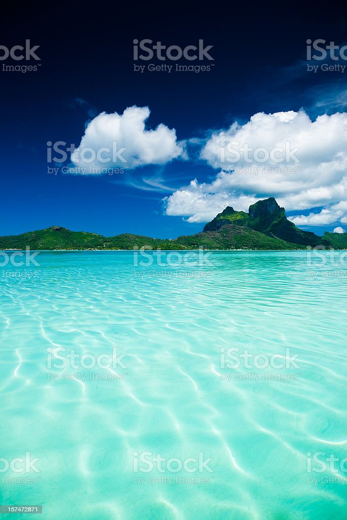 Bora-Bora Dream Vacation Island stock photo