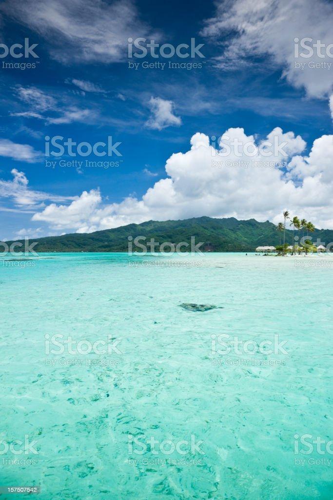 Bora-Bora Dream Vacation Island royalty-free stock photo