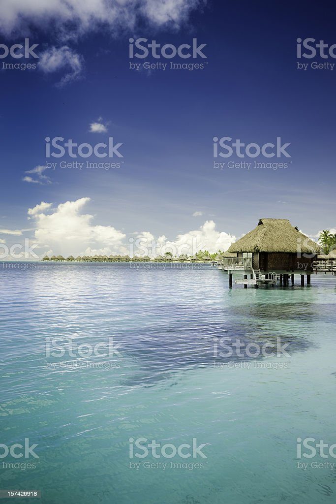 Bora-Bora Hotel Resort royalty-free stock photo