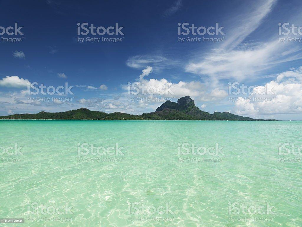 Bora-Bora Island Lagoon royalty-free stock photo