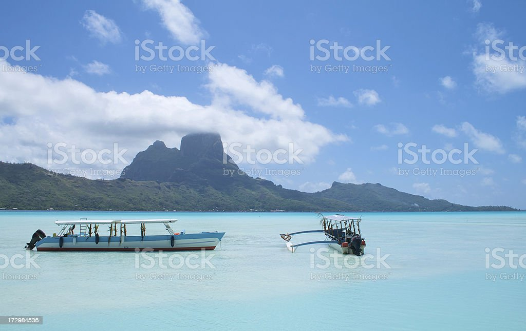 boraBora Lagoon royalty-free stock photo