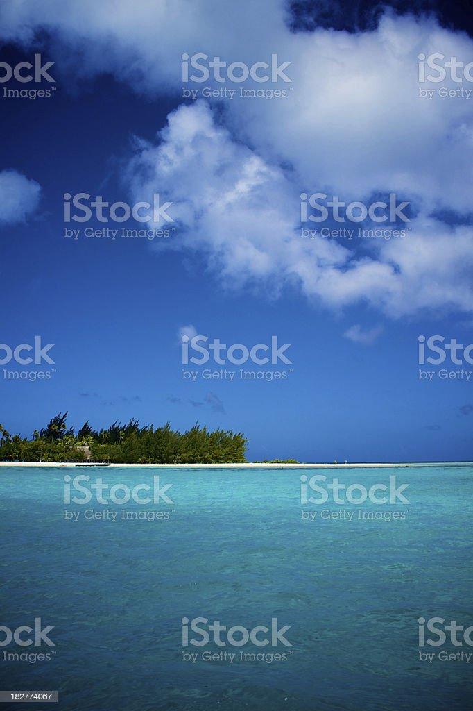 BoraBora Lagoon royalty-free stock photo
