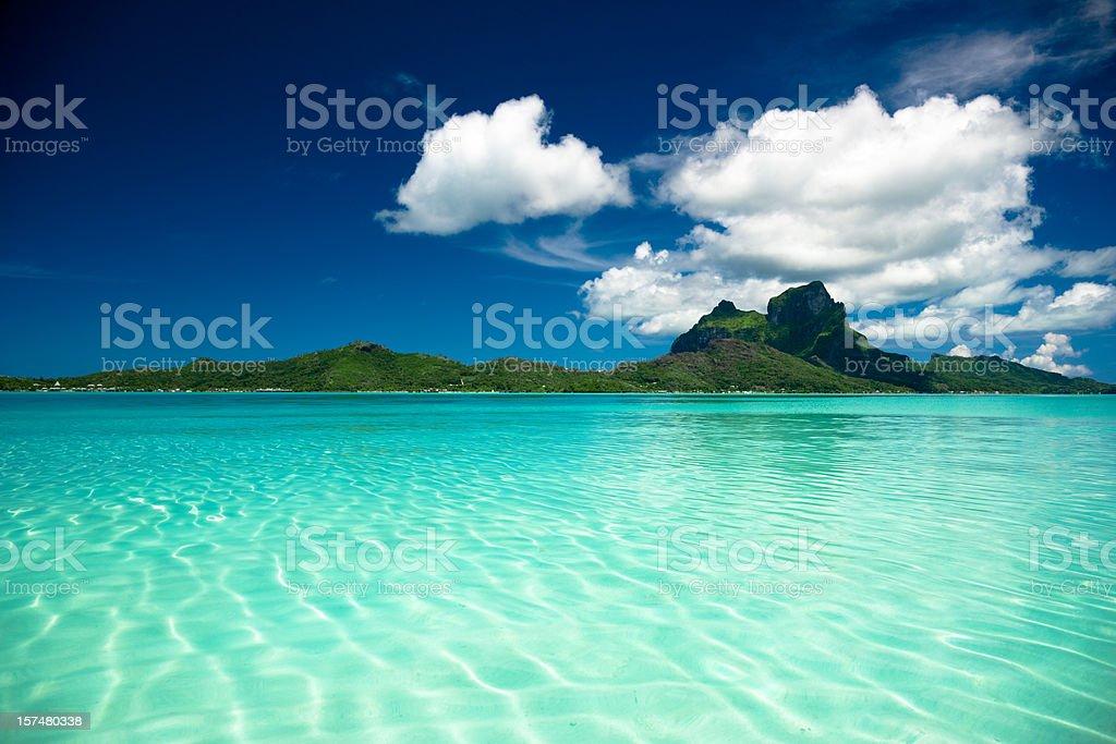 Bora-Bora Perfect Paradise Island stock photo