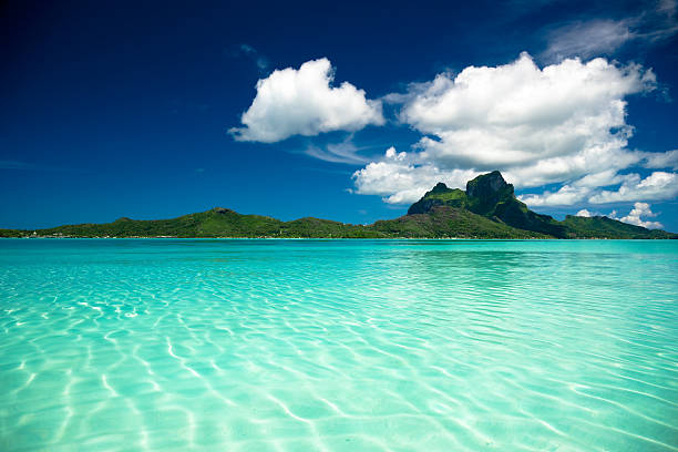 Bora-Bora Perfect Paradise Island  south pacific ocean stock pictures, royalty-free photos & images