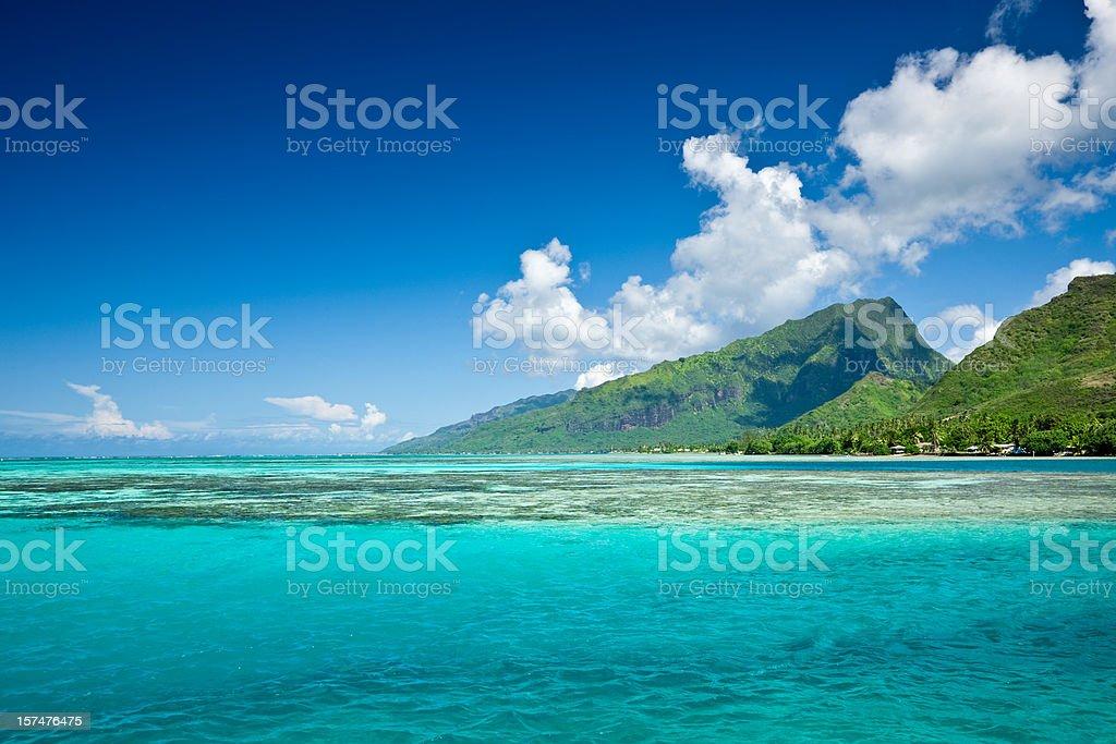 Bora-Bora View over Lagoon royalty-free stock photo