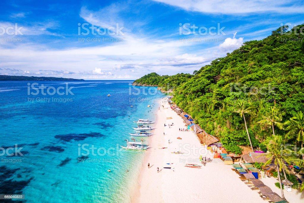 Boracay Island Aerial View, Western Visayas, Philippines stock photo
