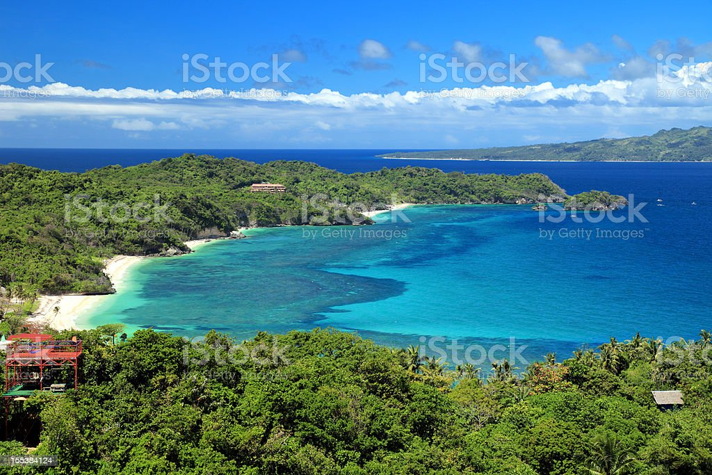 Boracay island panorama stock photo