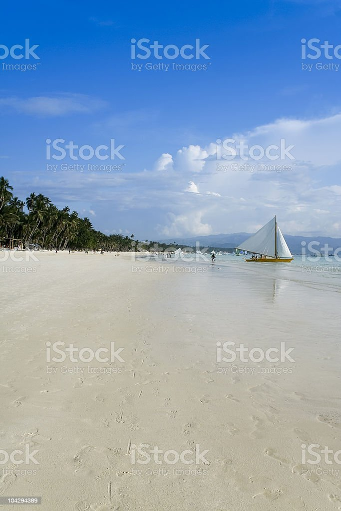 boracay island white beach royalty-free stock photo