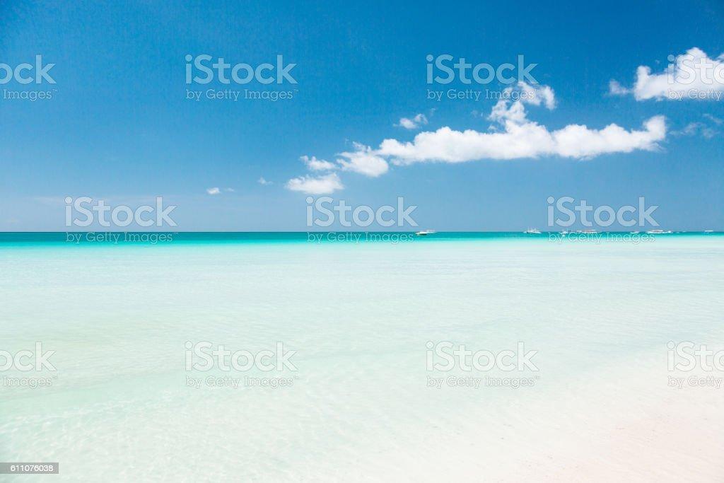 Boracay white beach stock photo