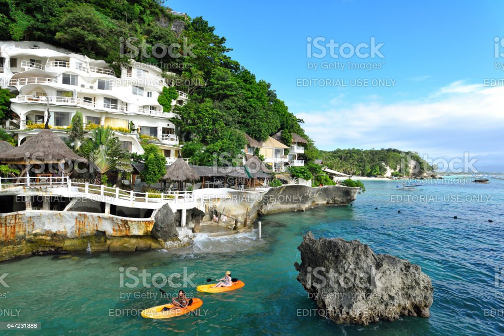Boracay,Philippines - Dec 20,2016:Beach scenary at Boracay,Philippines. stock photo