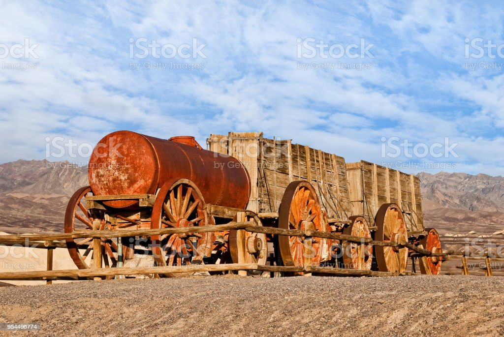 Twenty Mule Team Borax Wagon stock photo