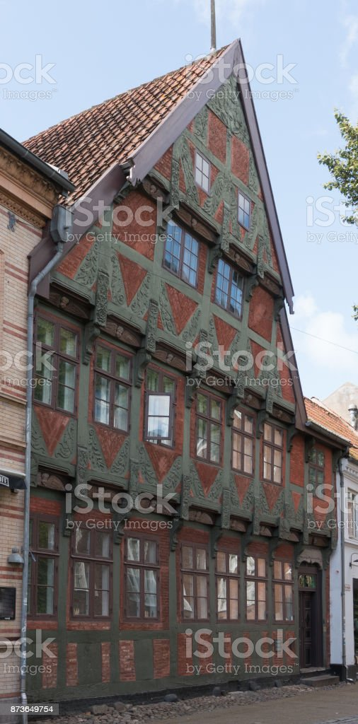 Borchs Gard Oldest House In Kolding Stock Photo - Download