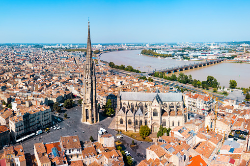 istock Bordeaux aerial panoramic view, France 1096976006
