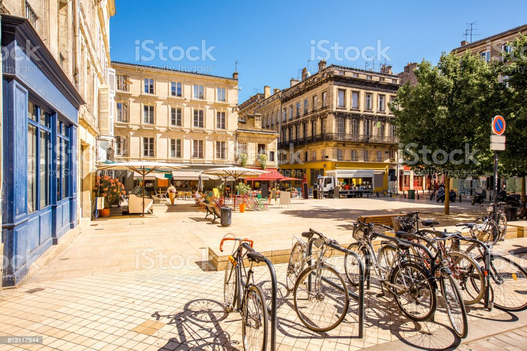 Bordeaux city in France stock photo