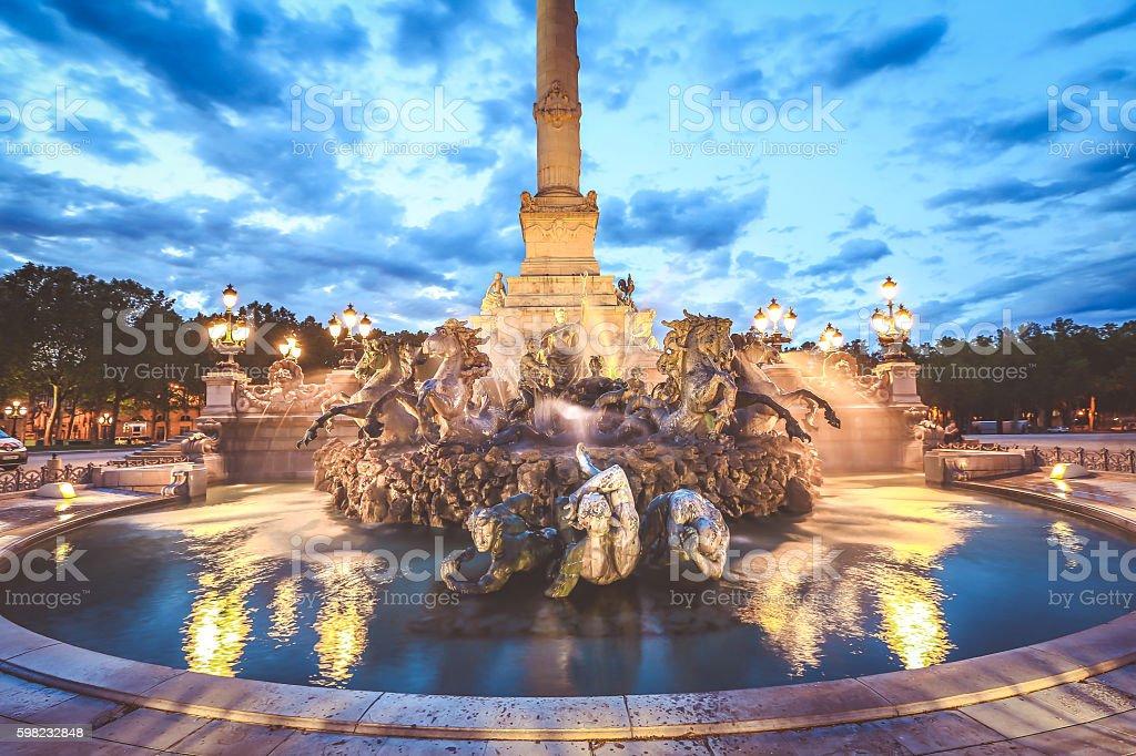 Cidade de Bordeaux foto royalty-free