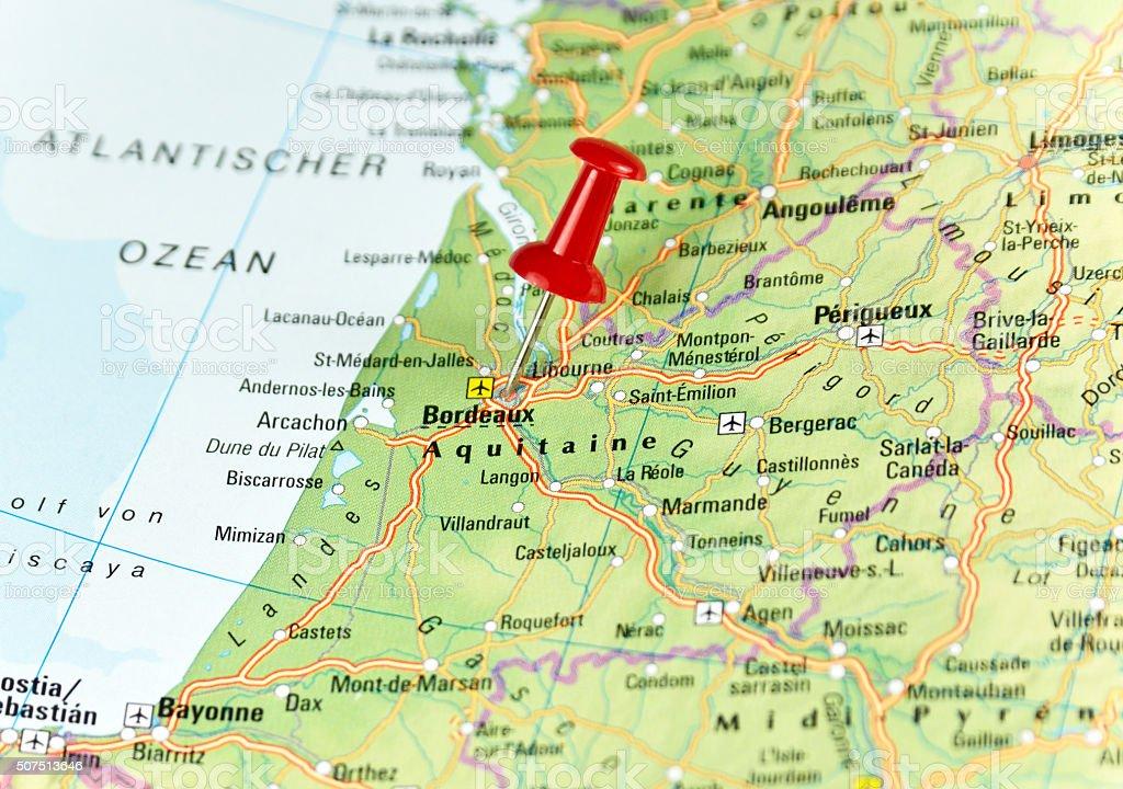 Map of bordeaux france