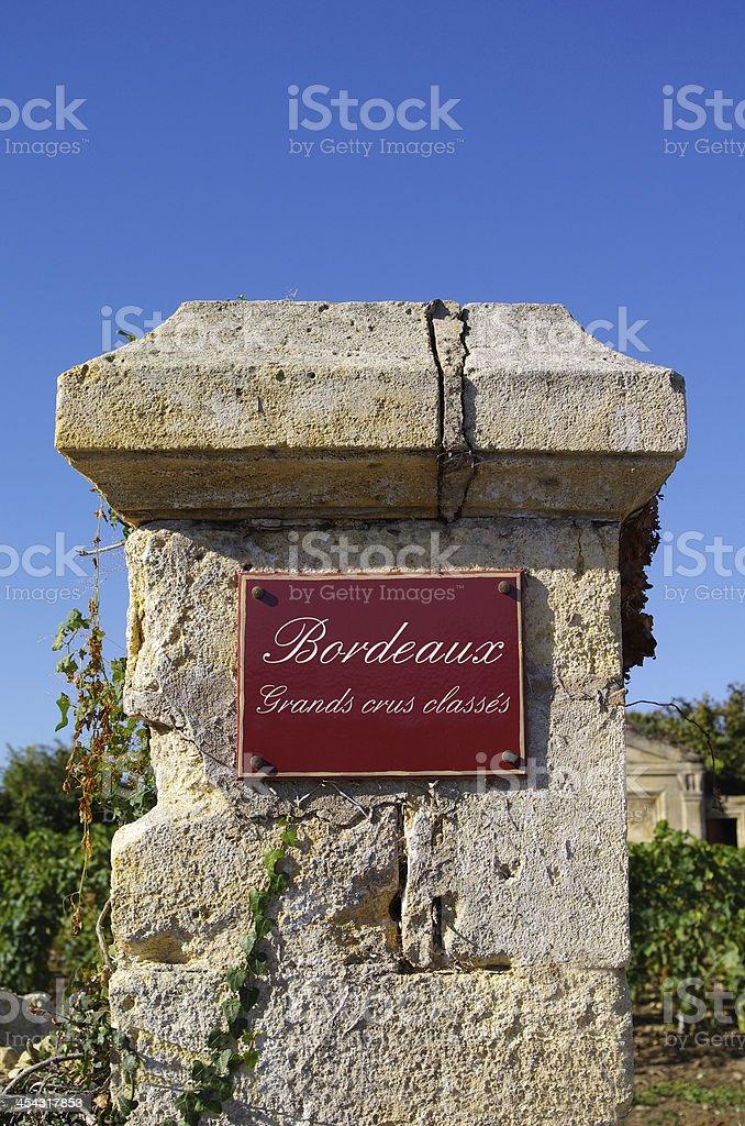 Bordeaux. Grands crus classes stock photo