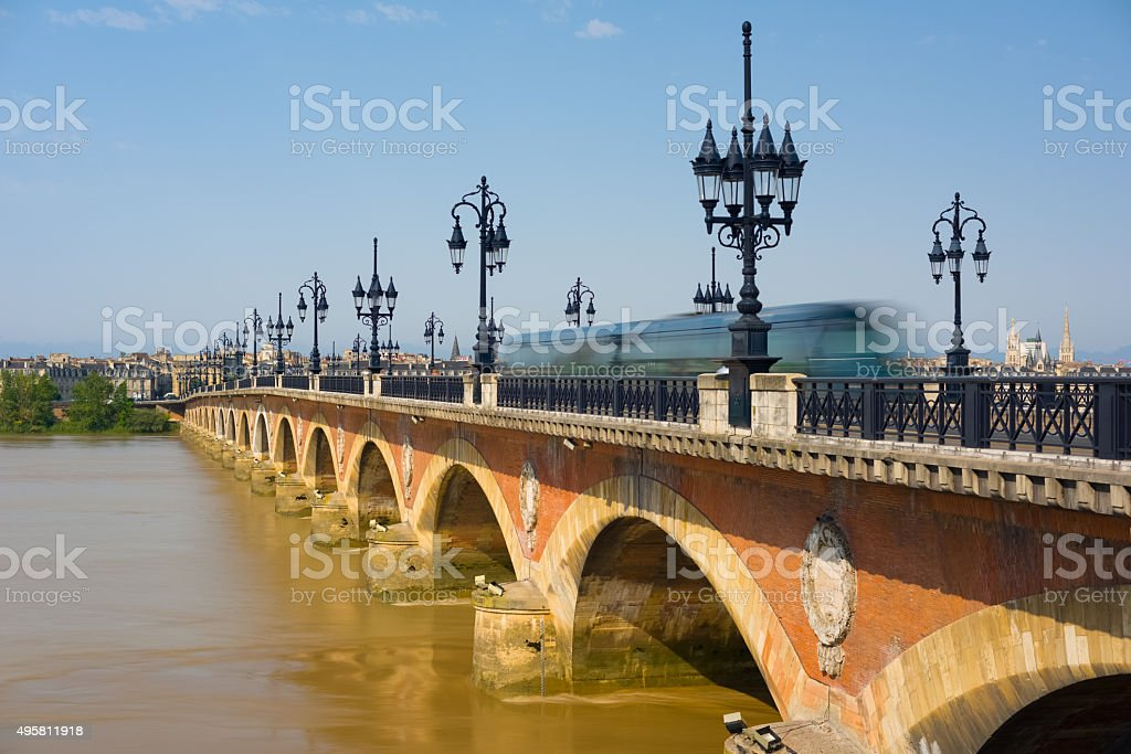 Bordeaux in a sunny summer day stock photo