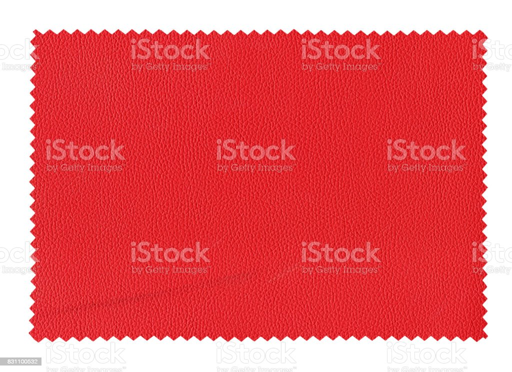bordeaux leatherette sample isolated over white stock photo