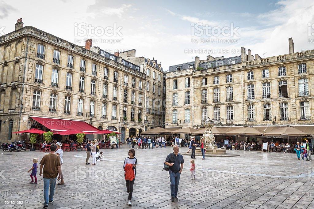 Bordeaux - Place du Parlement stock photo