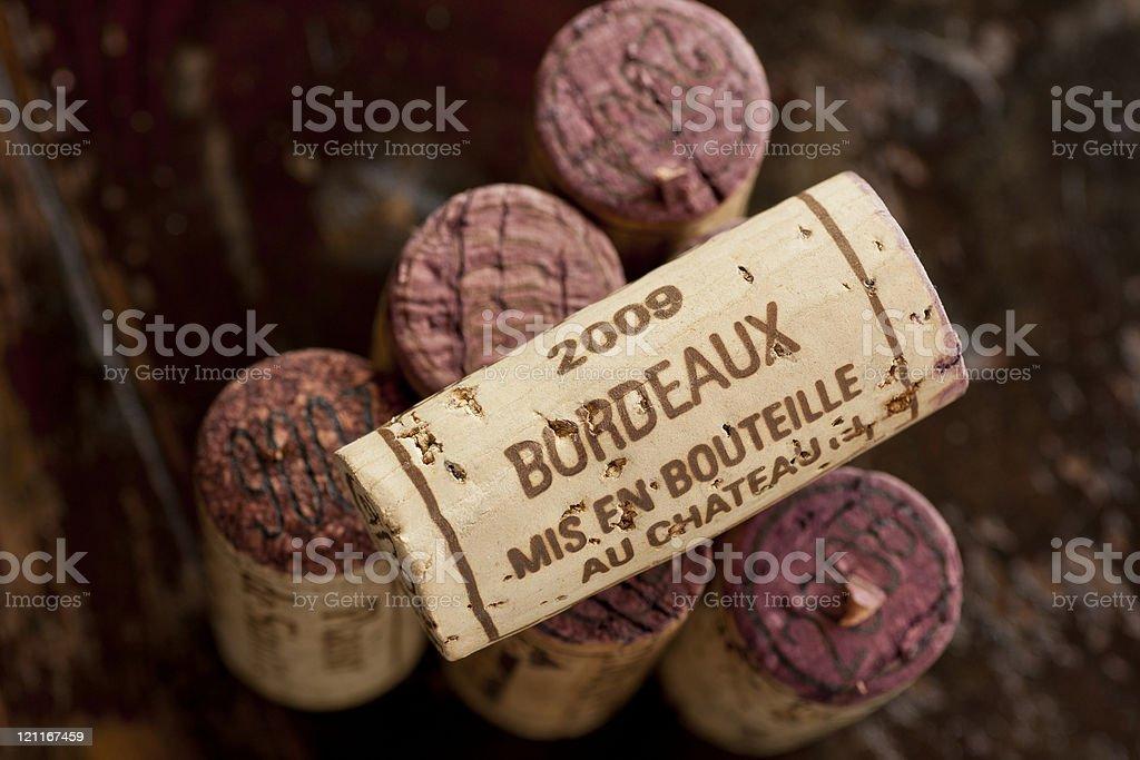 Bouteille de vin rouge de Bordeaux bouteille - Photo