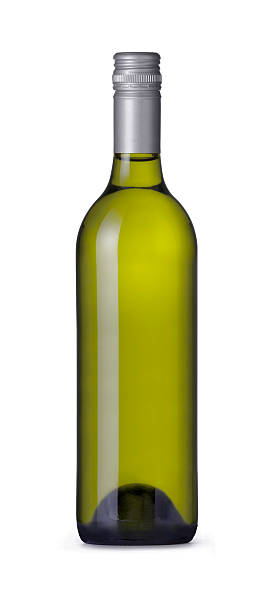 Bordeaux Shape Wine Bottle stock photo