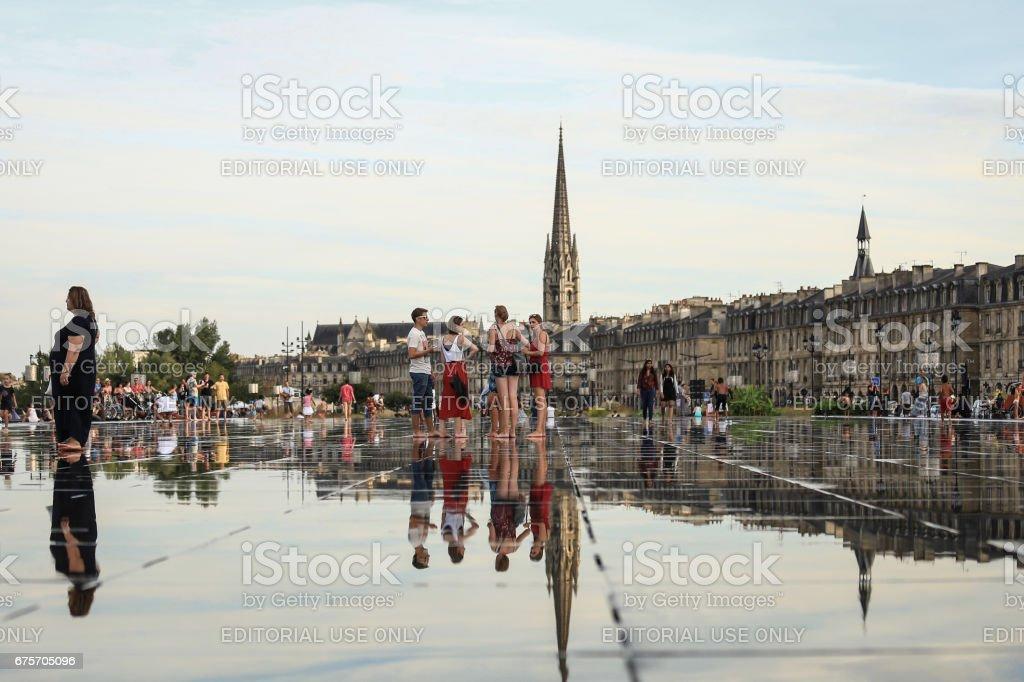 Bordeaux water mirror royalty-free stock photo
