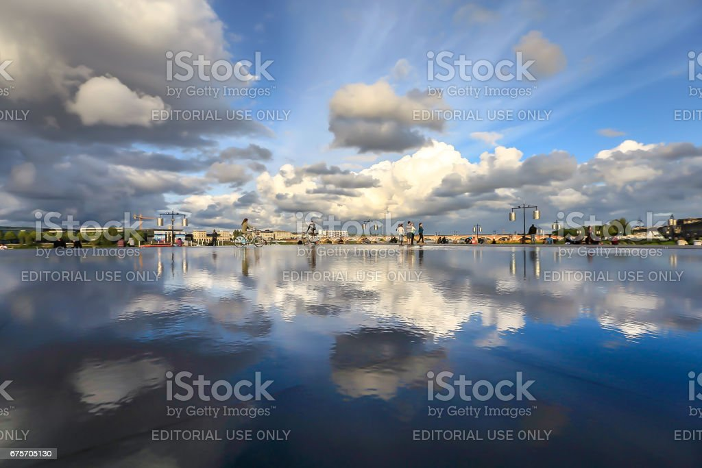 Bordeaux water mirror royalty-free stock photo