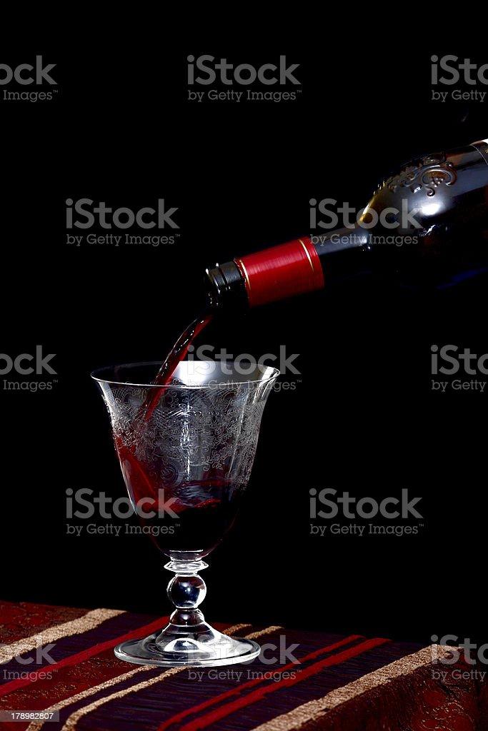Bordeaux wine stock photo