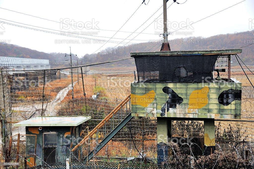 Border at Freedom Bridge, South Korea stock photo