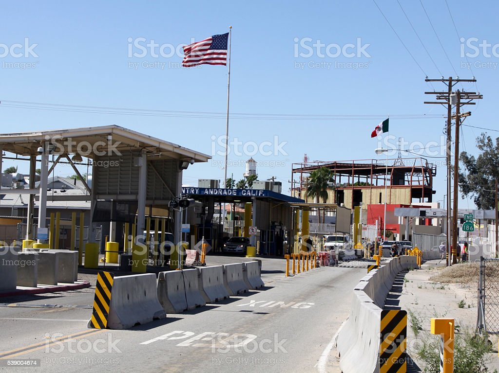 Border Between The United States And Mexico stock photo