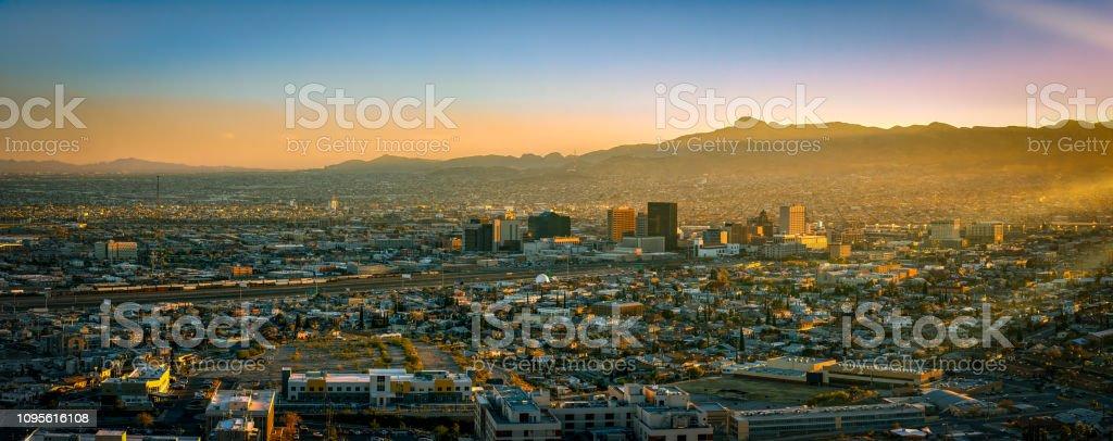 Border City Pano stock photo
