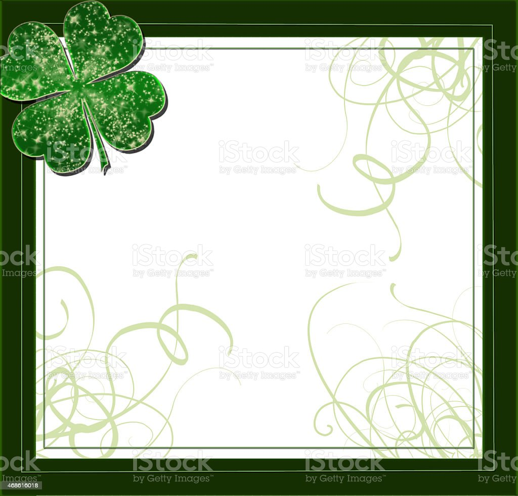 border clover for st Patty's day stock photo