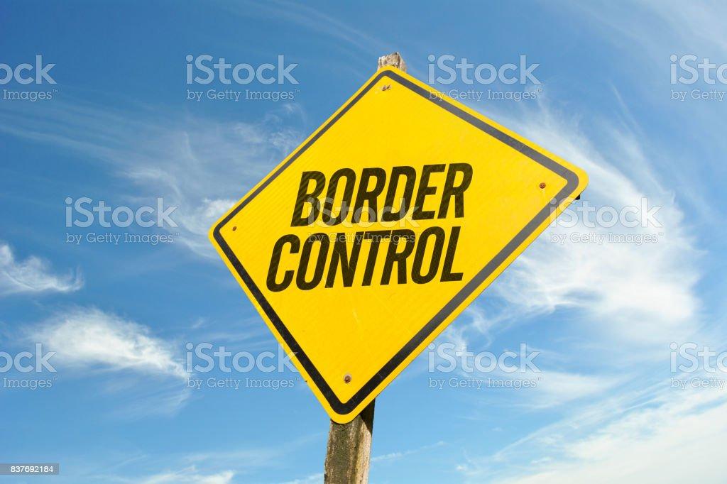 Border Control stock photo