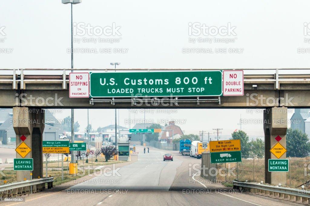 Border crossing stock photo