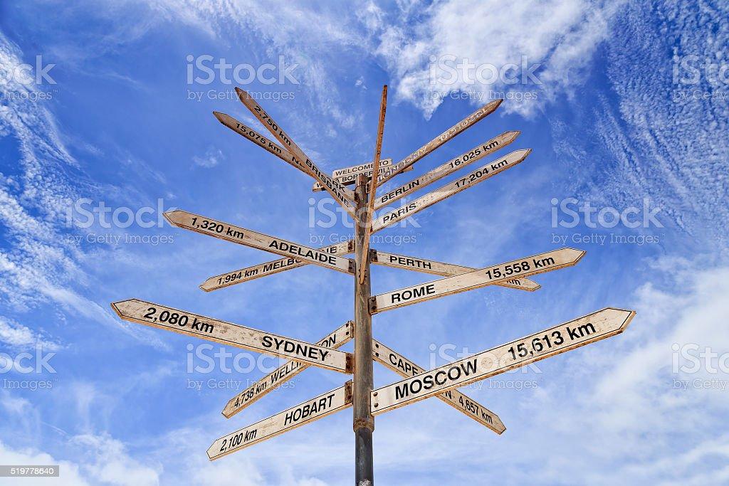 Sa Wa Border Distance Pole Sky Stock Photo & More Pictures of