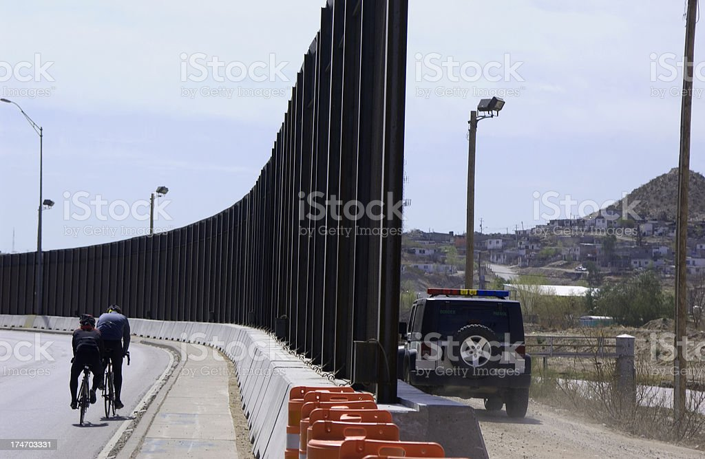 Border Fence Both sides stock photo