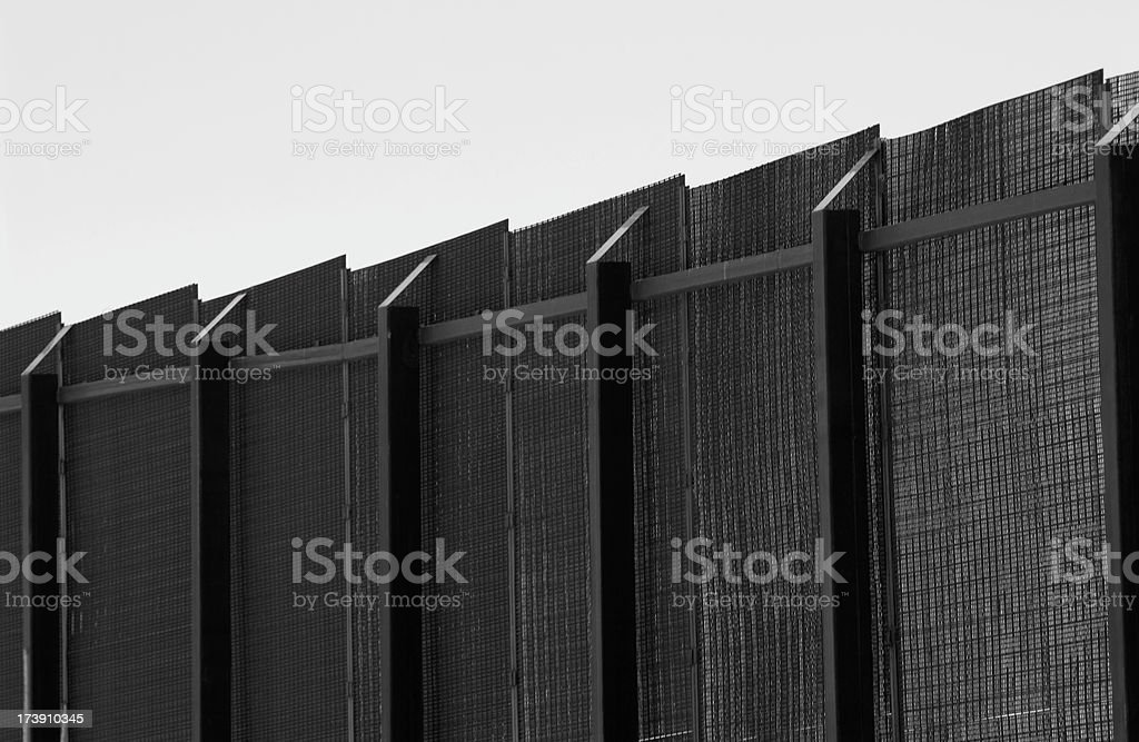 Border Fence Detail stock photo