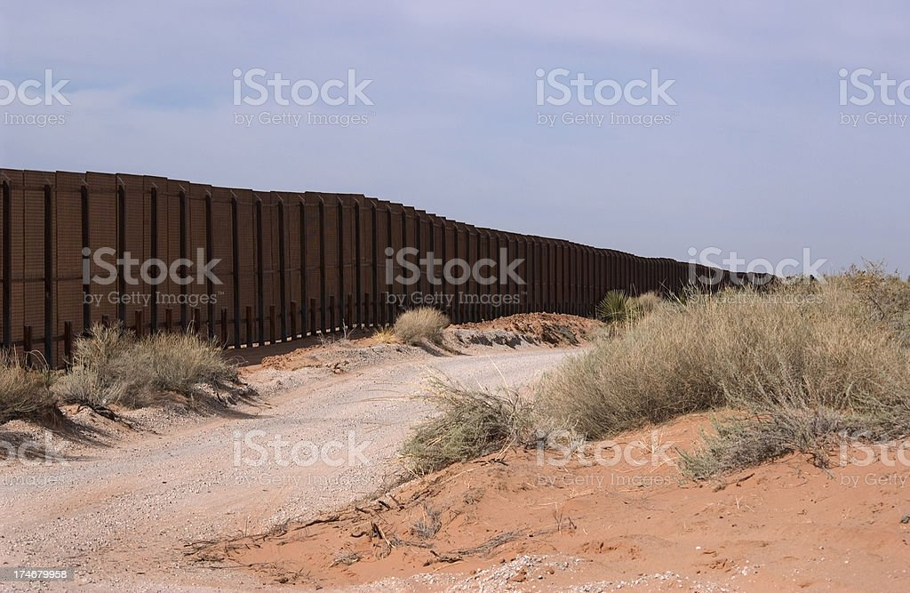 Border Fence - New Mexico stock photo