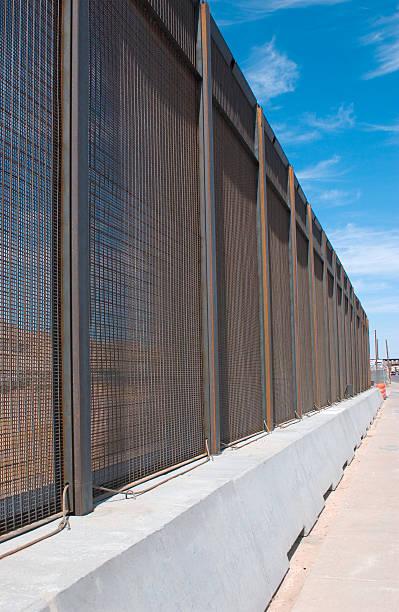 Border Fence Vertical stock photo