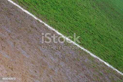 istock Border line of a football field 465040973